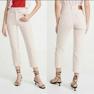 NWT Levi's Wedgie Fit Jeans Light Pink